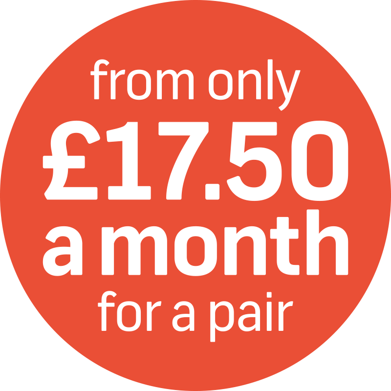 From only £17.50 a month for a pair of hearing aids